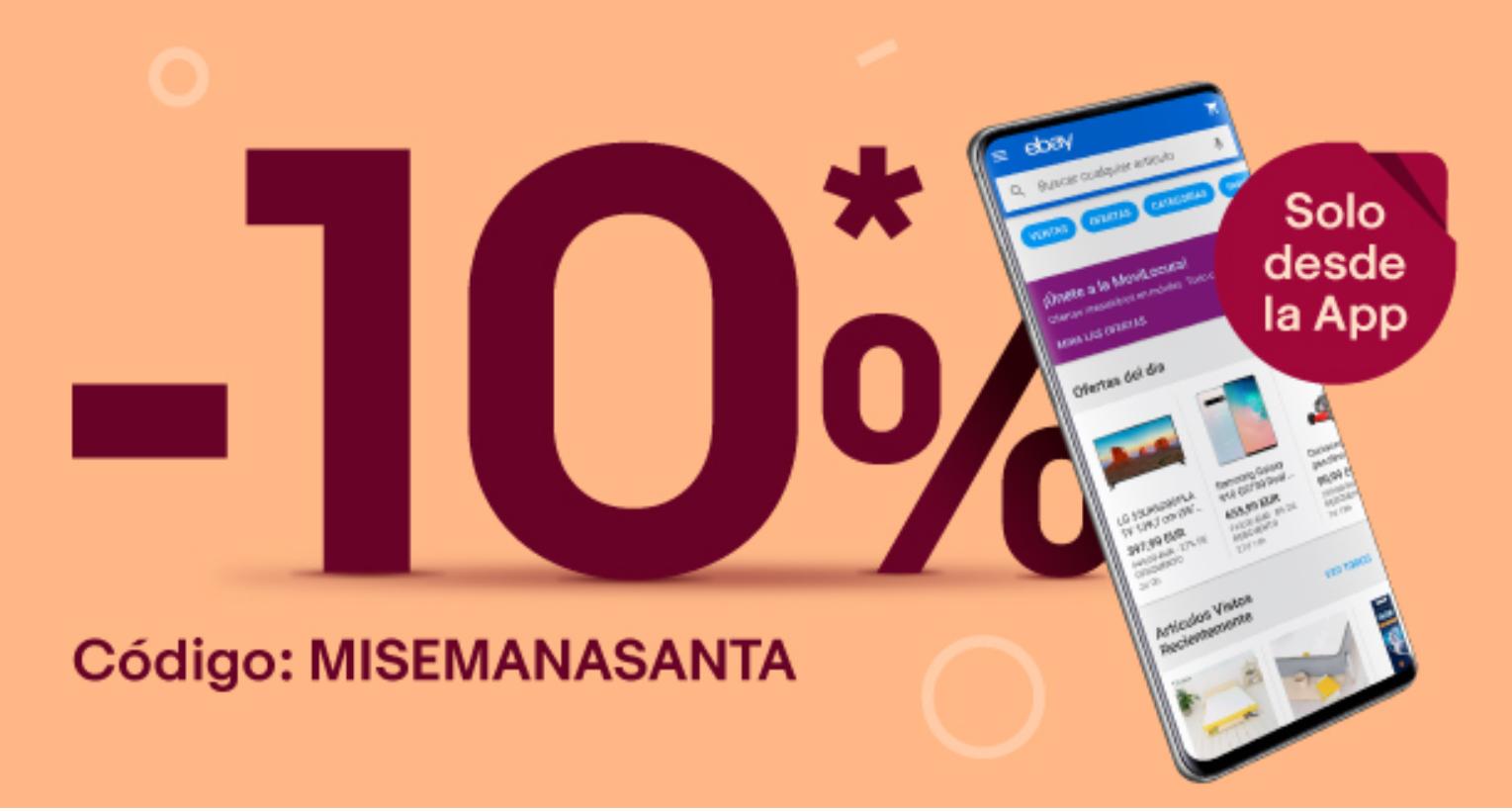 10% de descuento en Ebay