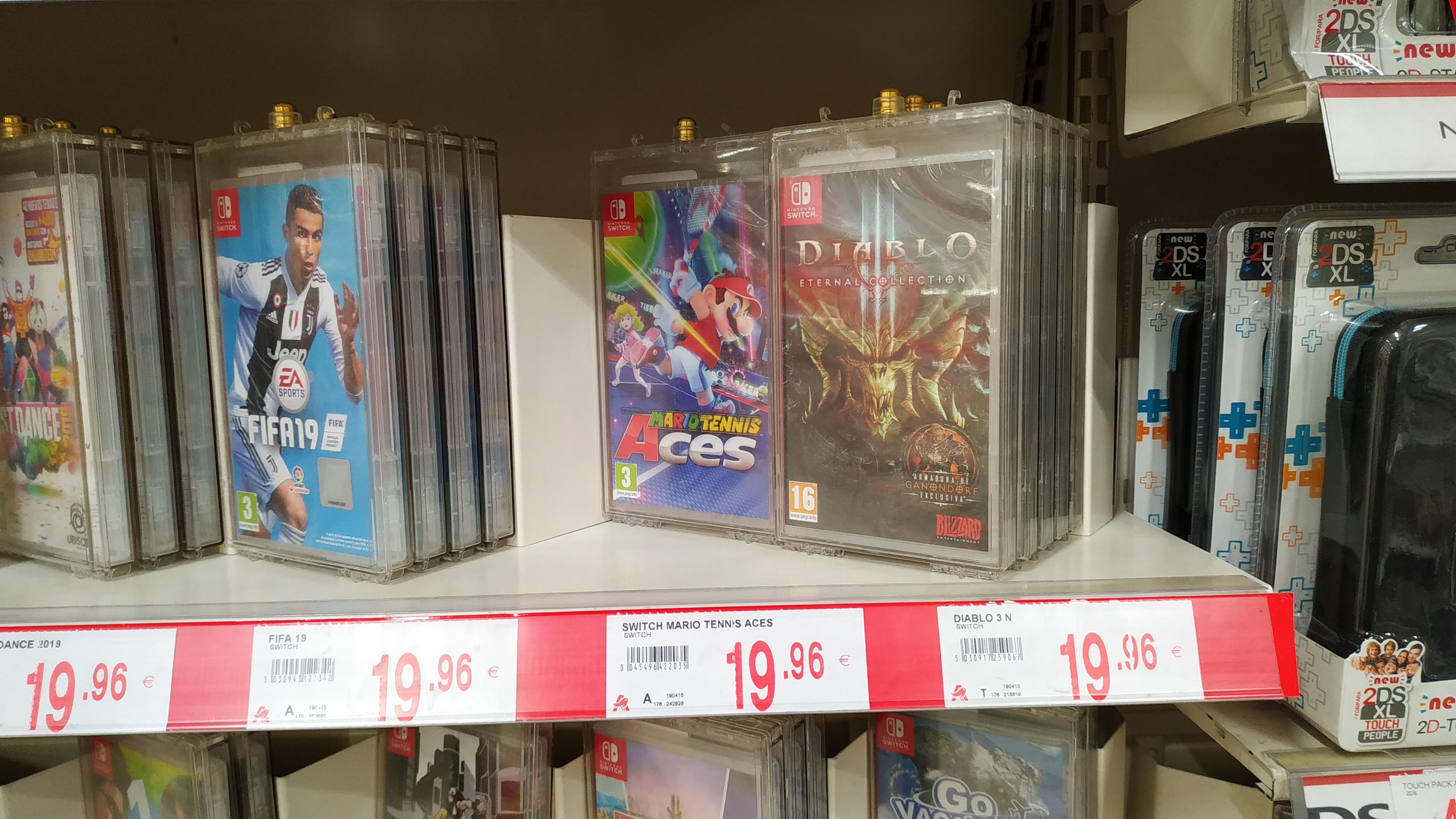 Videojuegos Nintendo Switch a 19,96 Alcampo de Vallecas