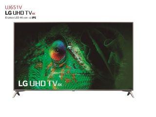 """TV LED 152,4 cm (60"""") LG 60UJ651V, UHD 4K, Smart TV"""