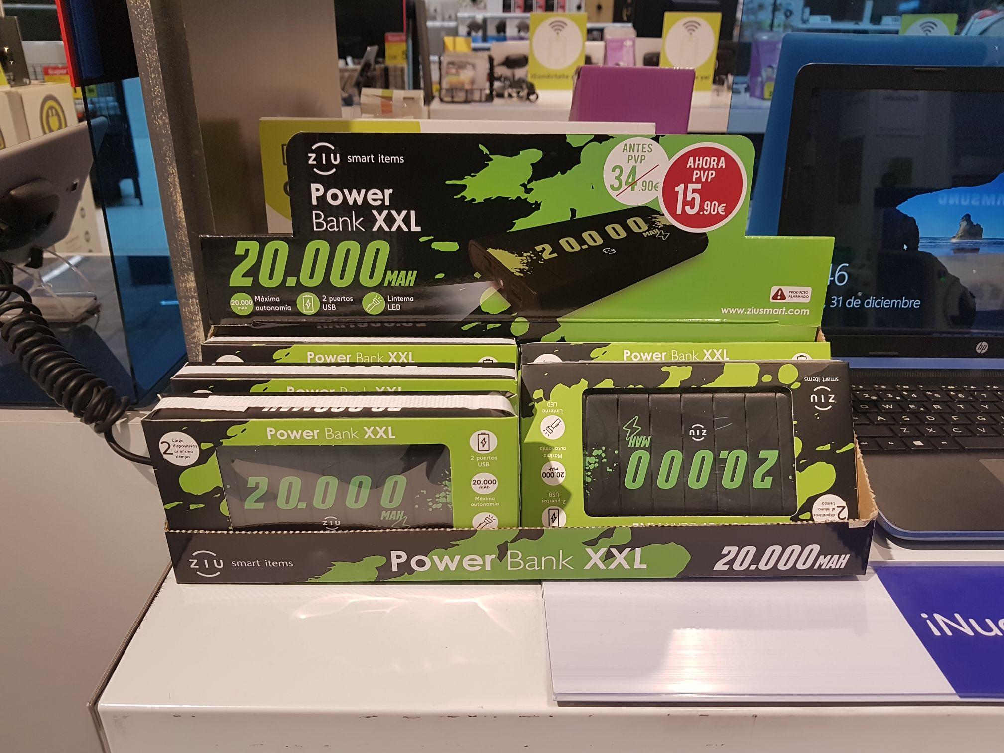 Bateria externa con 20.000 mah de capacidad (Carrefour de Tenerife)