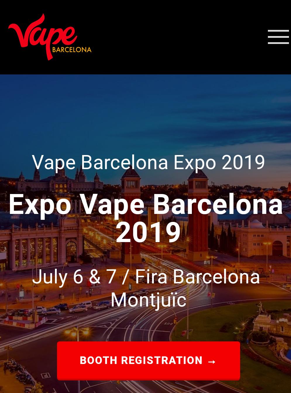 ENTRADAS GRATIS! EXPO VAPE BCN 2019