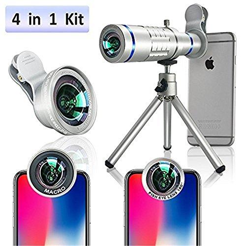 Kit lentes de cámara móvil - 4 en 1