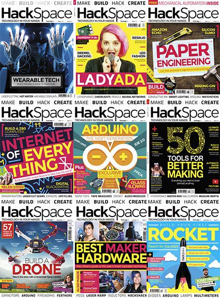 Colección revista HackSpace (con muchos proyectos)