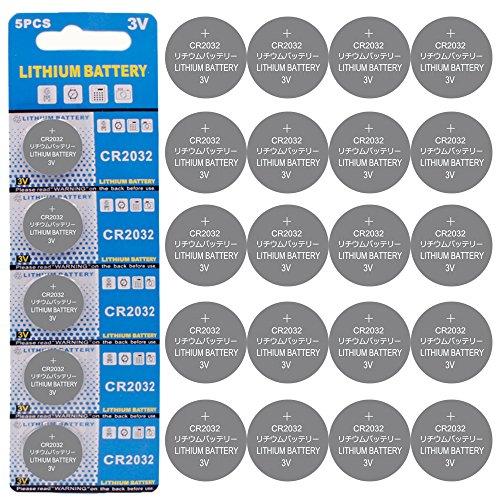 Batería de Litio CR2032 3V (Pack 20)