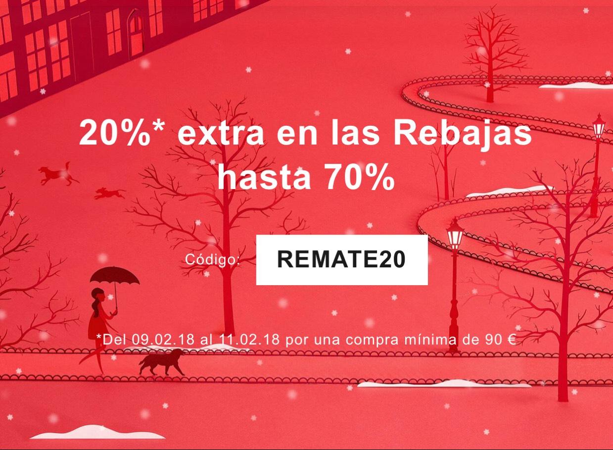 20% extra en rebajas en compras superiores a 90 euros