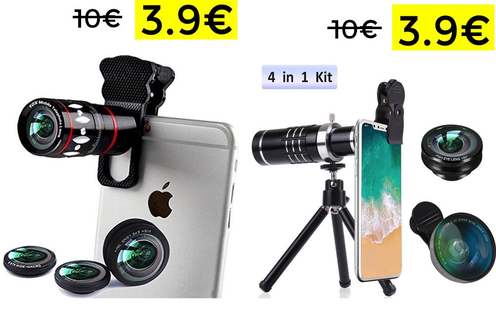 Set lentes para móvil solo 3.99€