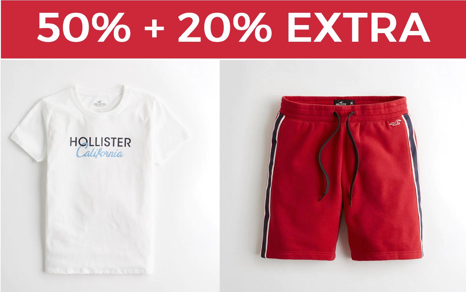 50% + 20% EXTRA en Hollister