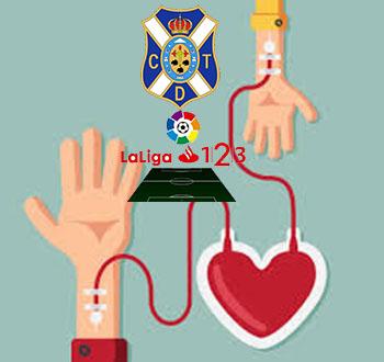 Entrada gratis para el Tenerife - Almeria por donar sangre o apuntarte a donar órganos