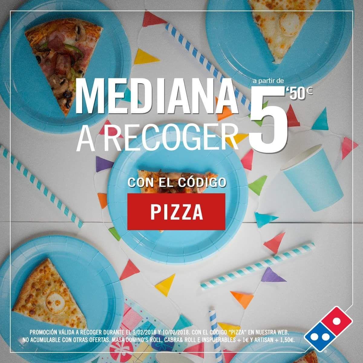 Pizza mediana 5,50€ (web Domino's pizza)
