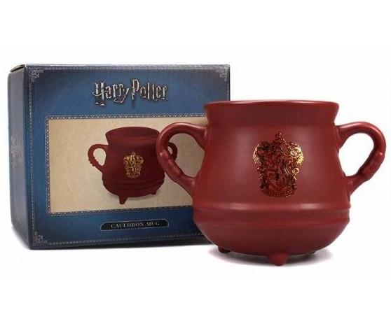 Taza Harry Potter - Caldero con escudo de Gryffindor 600 ml