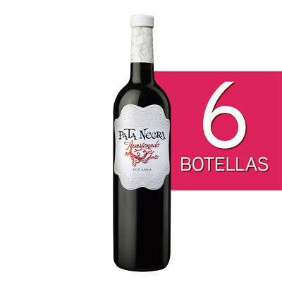 Caja de 6 botellas de vino Pata Negra Apasionado. Tinto D.O. Jumilla