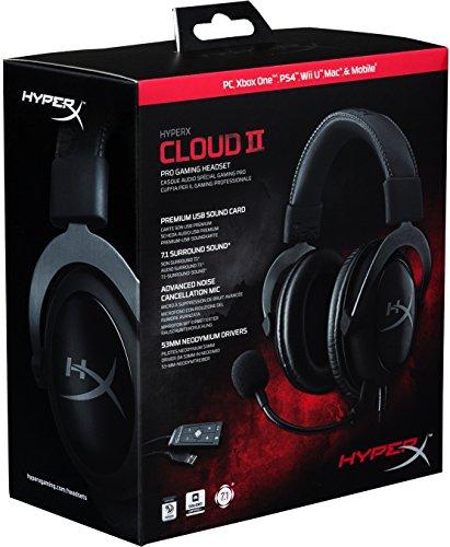 HyperX Cloud II - Auriculares de diadema cerrados
