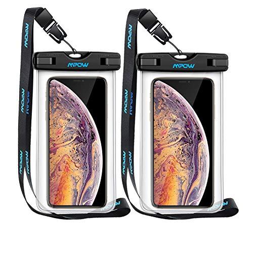 "Mpow -- [2 unds] Funda Impermeable para móviles de hasta 6.5"""