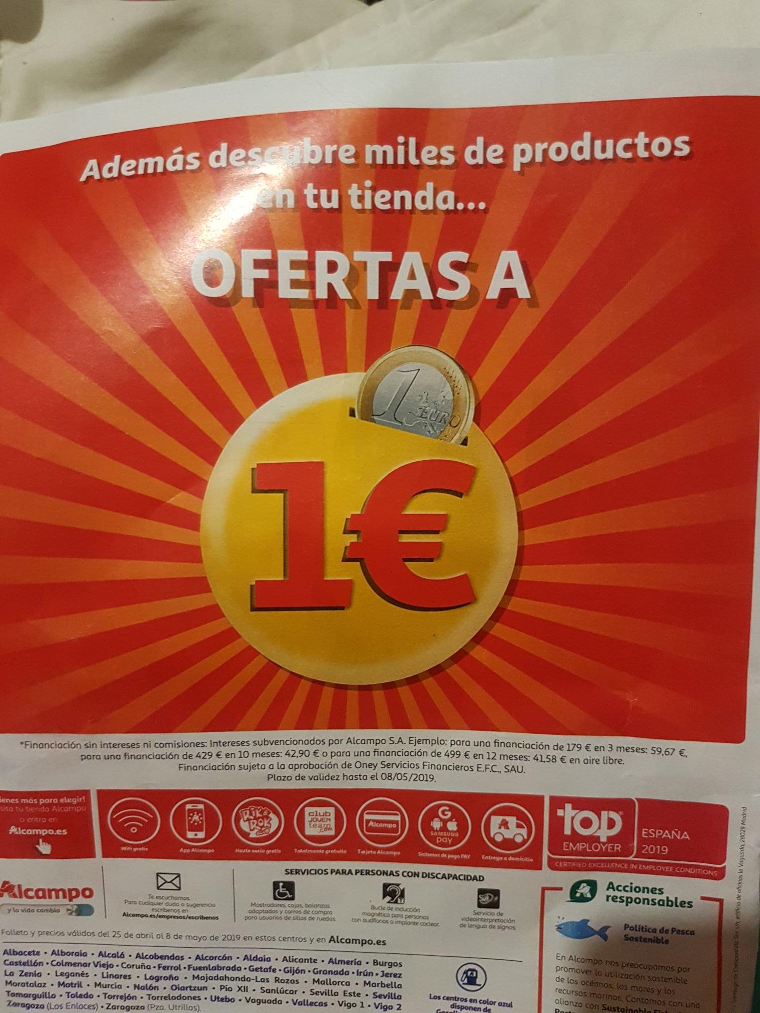 Ofertas a 1€ en Alcampo!