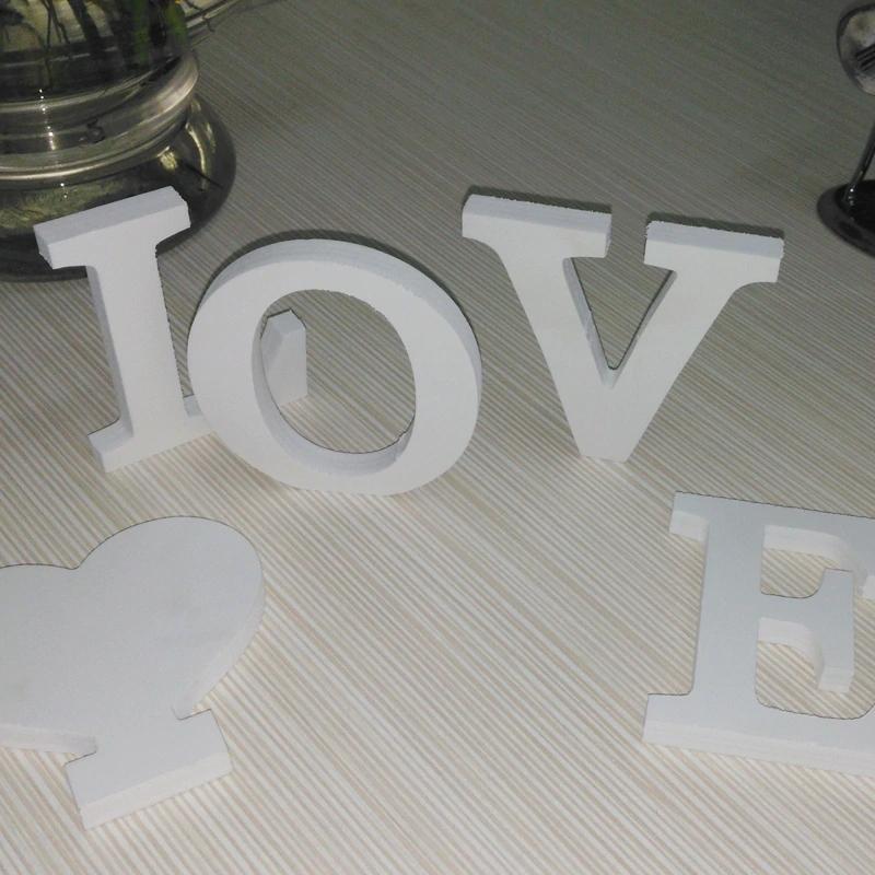 Letras  de madera para pared decoración del hogar 3D