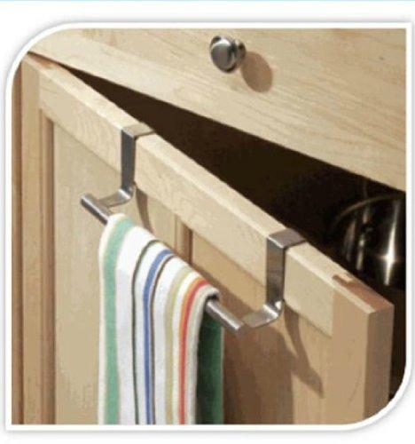 Toallero con riel y gancho para armario, puerta, cajón de cocina y baño