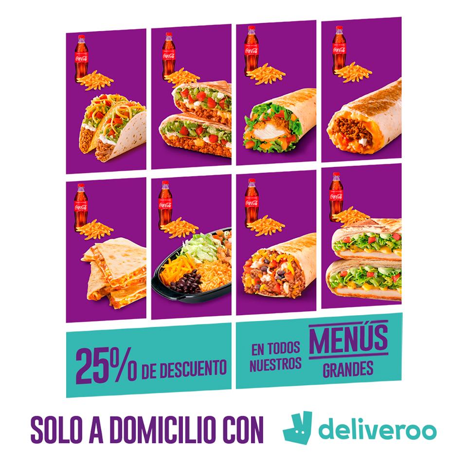 25% de descuento en menús grandes de Taco Bell en Deliveroo