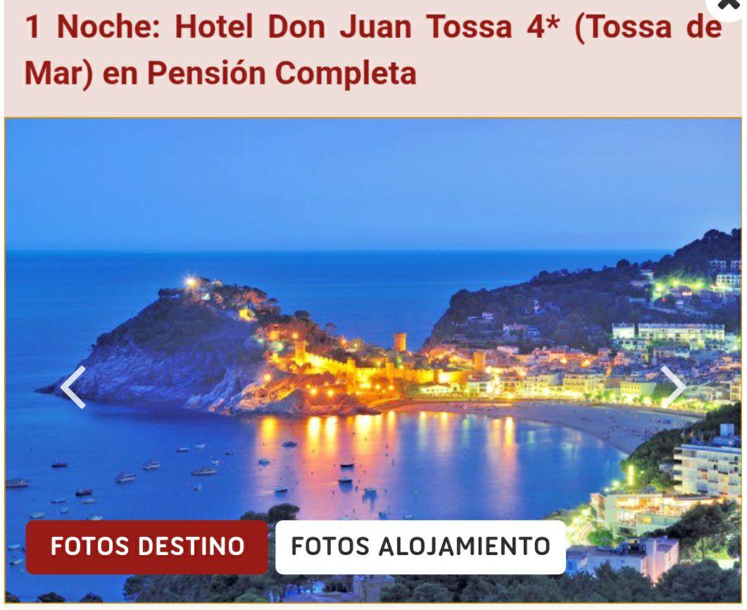 Increible PENSIÓN COMPLETA por solo 23€/pers en Tossa de Mar