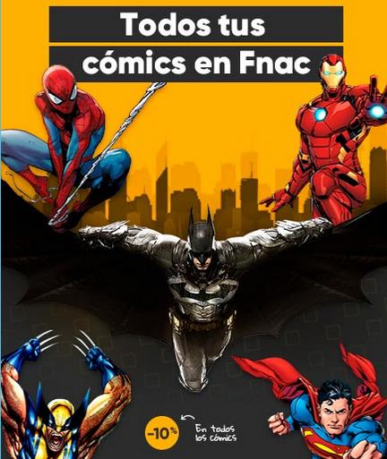 -10% Descuento en Comics y Mangas en Fnac