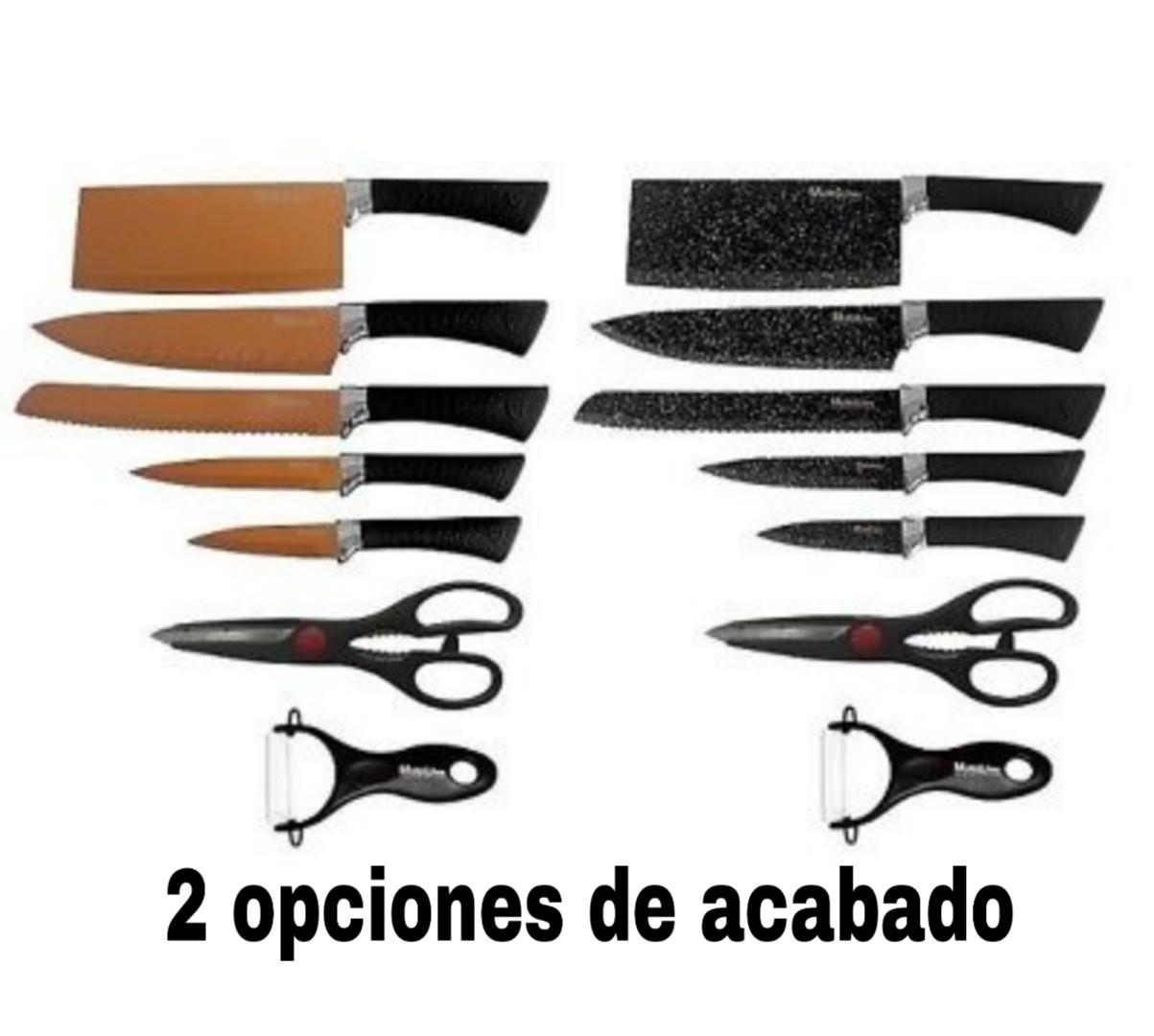 Set de 5 cuchillos, tijeras y pelador