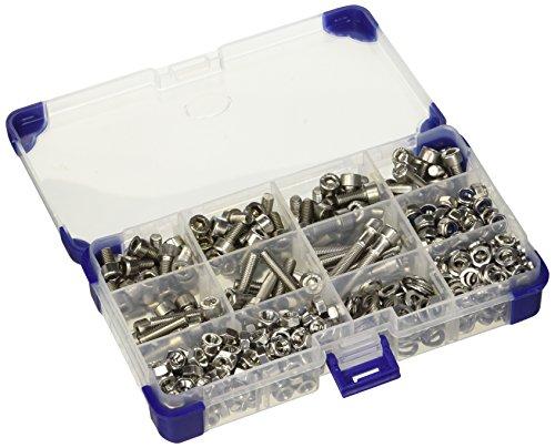 5 mm M5 acero inoxidable casquillos gorra A2 juego de tornillos con arandelas y tuercas (615 piezas)