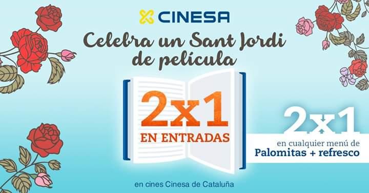 CINESA 2x1 en entradas y en palomitas y refresco (solo Cataluña)