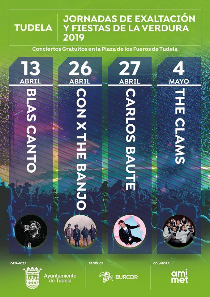 Concierto gratuito de Con X The Banjo y de Carlos Baute en Tudela (Navarra)
