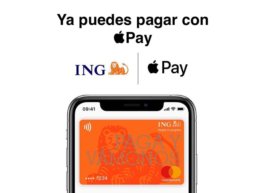 ACTUALIZADO: 5€ GRATIS cada vez al pagar con Apple Pay teniendo cuenta en ING