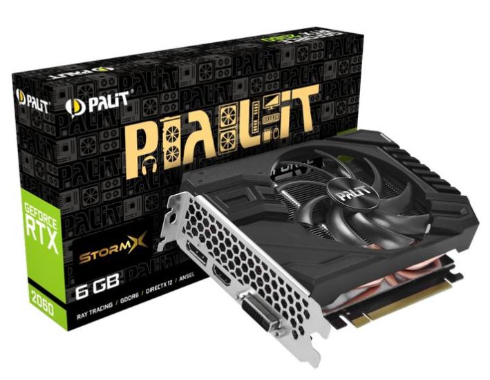 Palit GeForce RTX 2060 StormX 6GB GDDR6 - 326€ (StormX OC 330€)