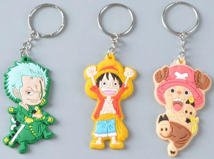 Chollito 3 Llaveros Personajes One Piece con Envío Gratis