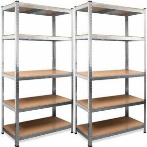 Set de 2 Estanterias Metalicas Galvanizadas 875kg 5 Baldas ( 2 unidades)