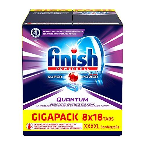 144 Pastilas para lavavajillas Finish Quantum