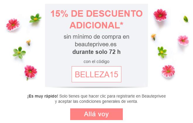 15% de descuento en Beauteprivee.com