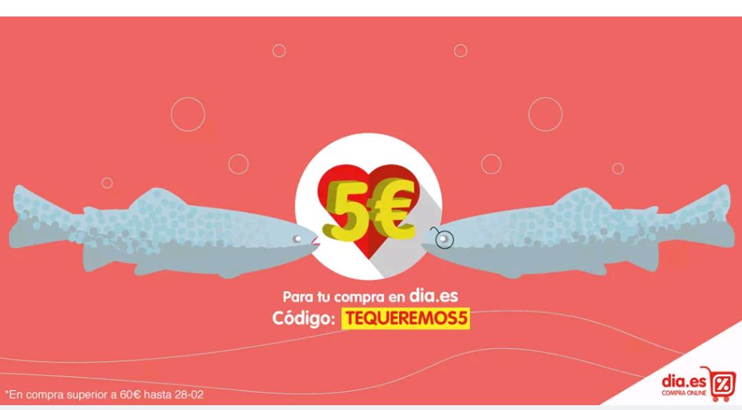 5€ descuento en compra online Día