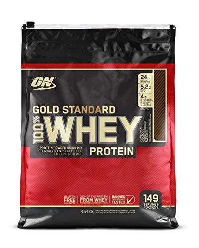 Gold Standard 100% Whey Proteína en Polvo, Doble Chocolate / Helado de Vainilla - 4540 g