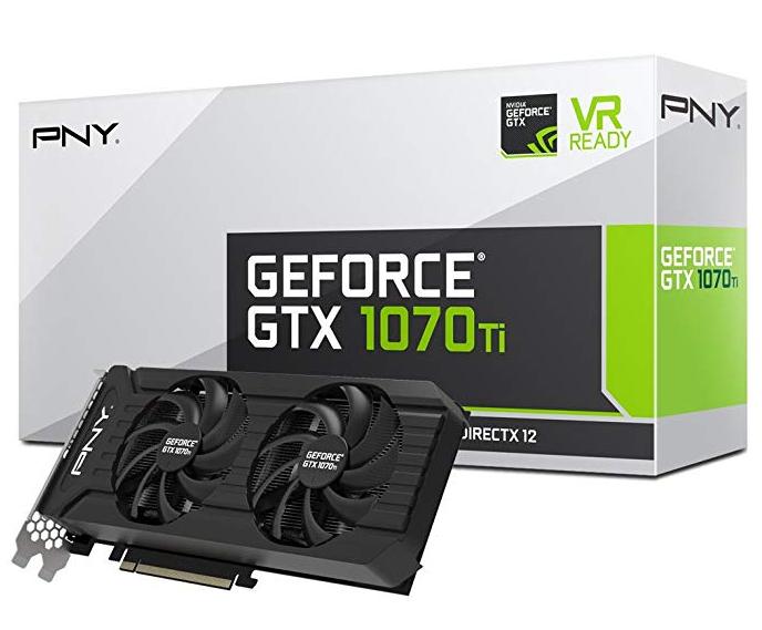 PNY GeForce GTX 1070Ti  - Twin Fan 8GB GDDR5 - Tarjeta Gráfica