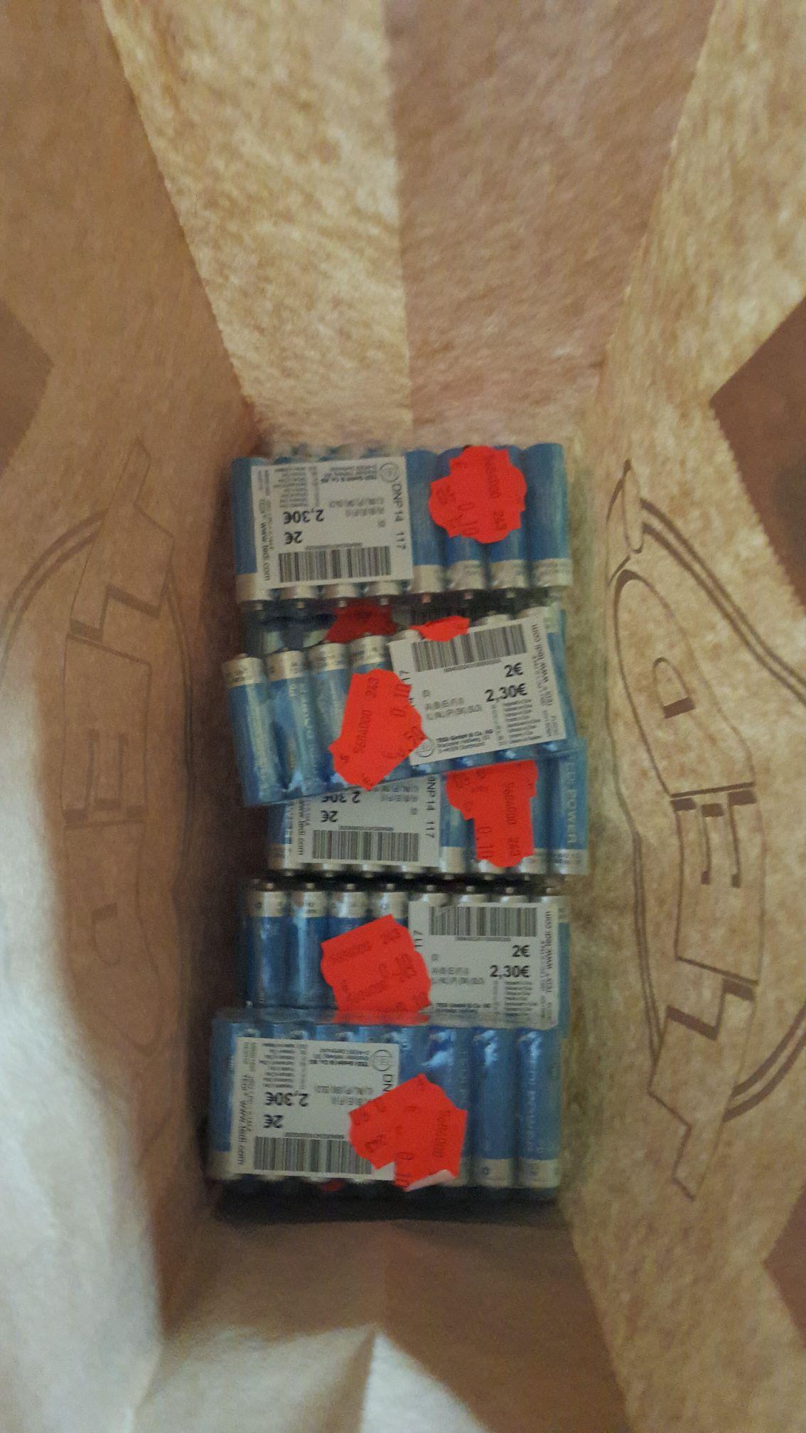 Paquete de pilas 16 unidades a 0.10€