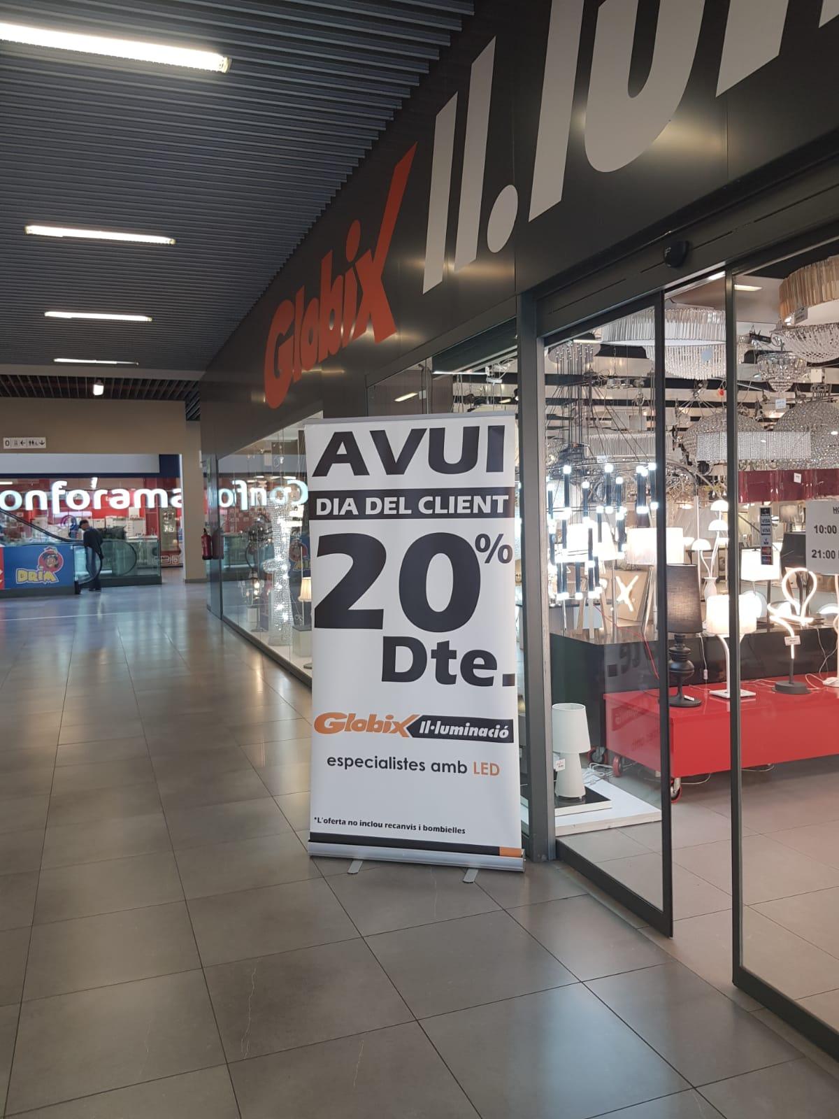 20% en GLOBIX Sabadell (tienda física)