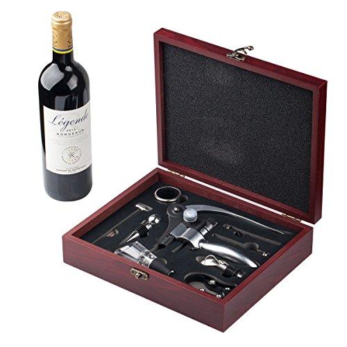 Abridor de Vino,Abrebotellas Sacacorchos,Set de Accesorios,9 Piezas