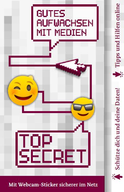 Pegatina para web cam gratis (top secret)