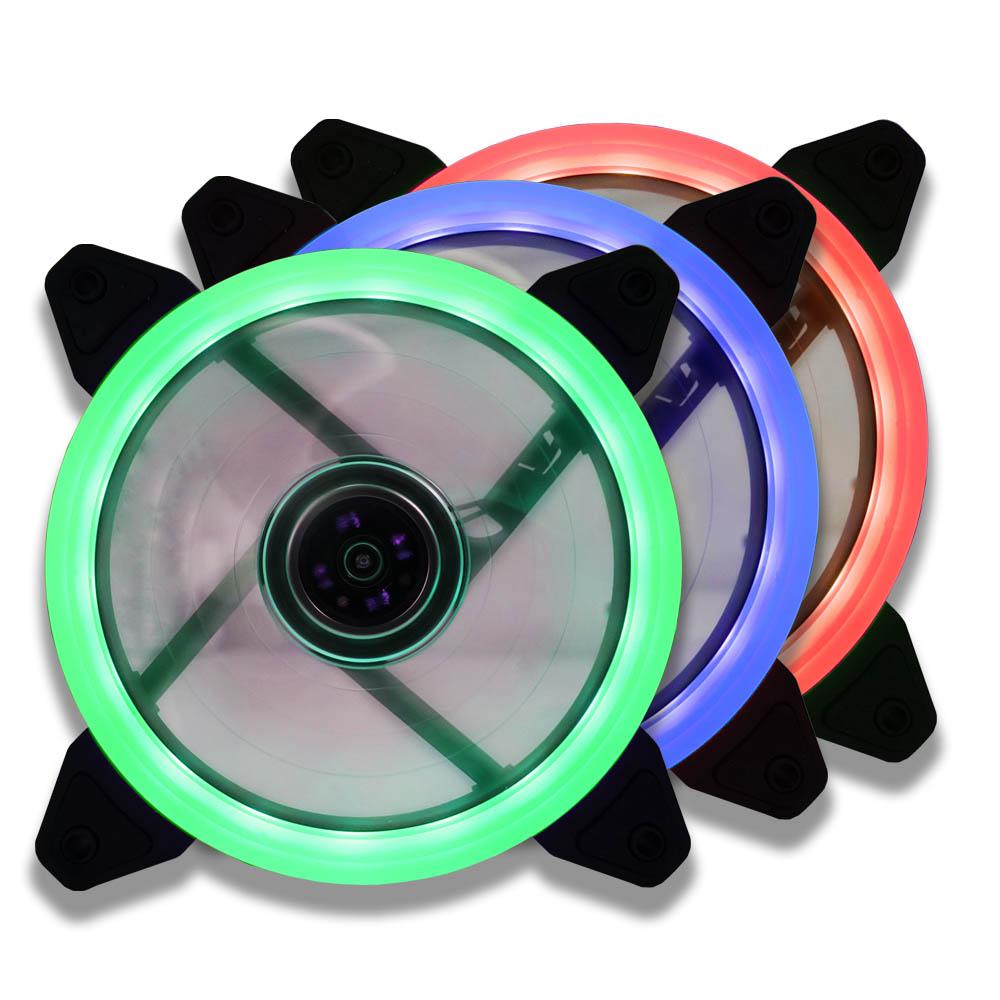 Lamptron Nasa RGB LED + Controlador Triple Pack - Ventiladores 12 cm
