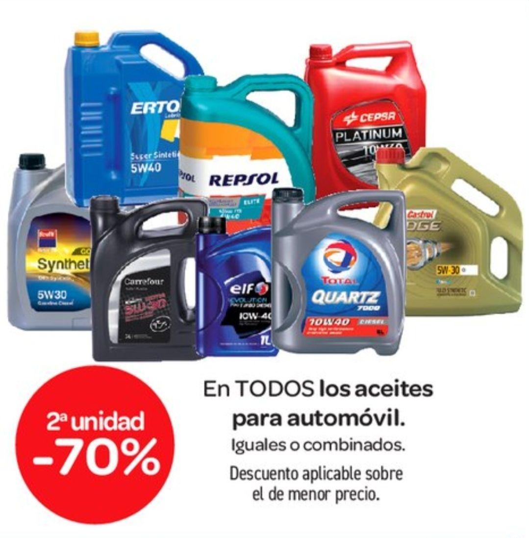 Aceites para el automóvil al 70% la segunda unidad