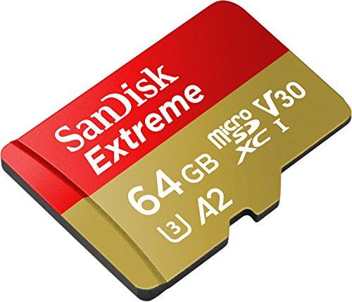 Tarjeta de memoria microSD 64 GB + Adaptador SanDisk Extreme