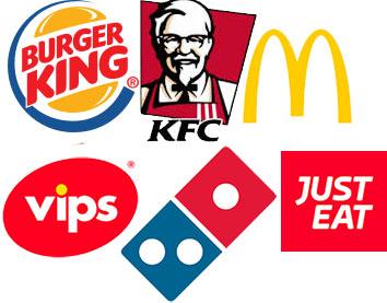 RECOPILATORIO BURGER KING, MCDONALDS, TELEPIZZA, DOMINOS, KFC, JUST EAT...
