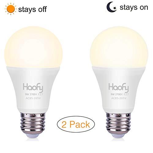 Pack de dos bombillas LED 9W con sensor de Luz