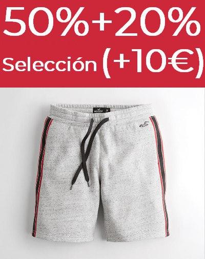 50% + 20% EXTRA + 10€ en Hollister
