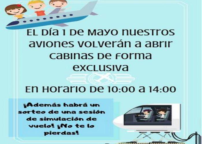 MÁLAGA (1 DE MAYO): Vuelven las cabinas abiertas en el Museo Aeronáutico