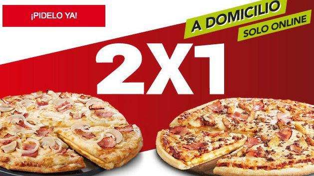 TELEPIZZA: 2x1 en pizzas medianas y familiares