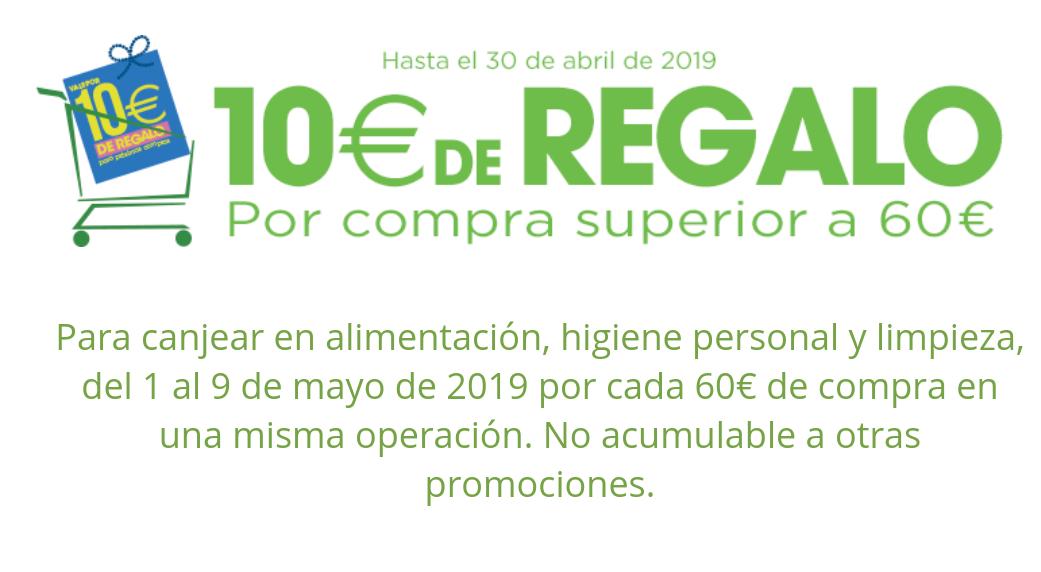 10 € de regalo en Hipercor