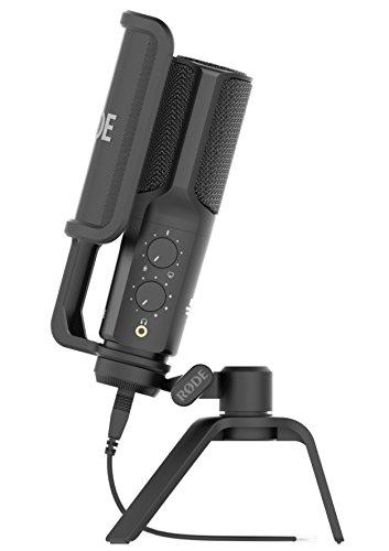 Rode NT-USB - Micrófono (USB, 3.5 mm), color negro